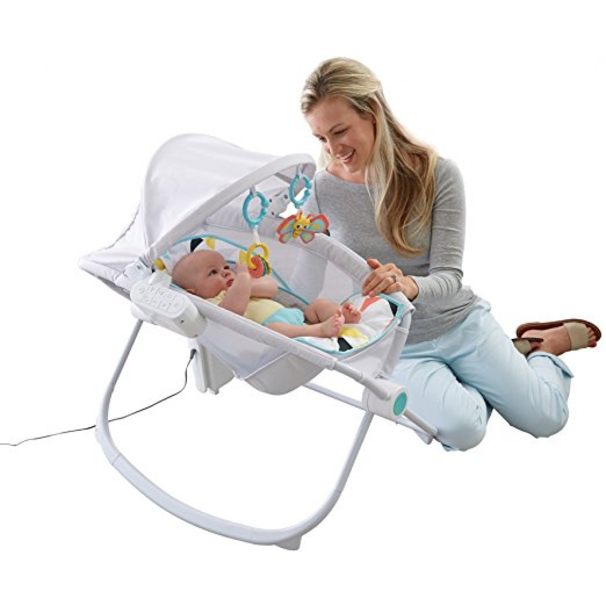 Fisher Price Premium Auto Rock N Play Sleeper With Smart Connect Swings
