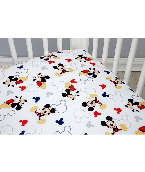 Disney Let's Go Mickey Crib Sheet
